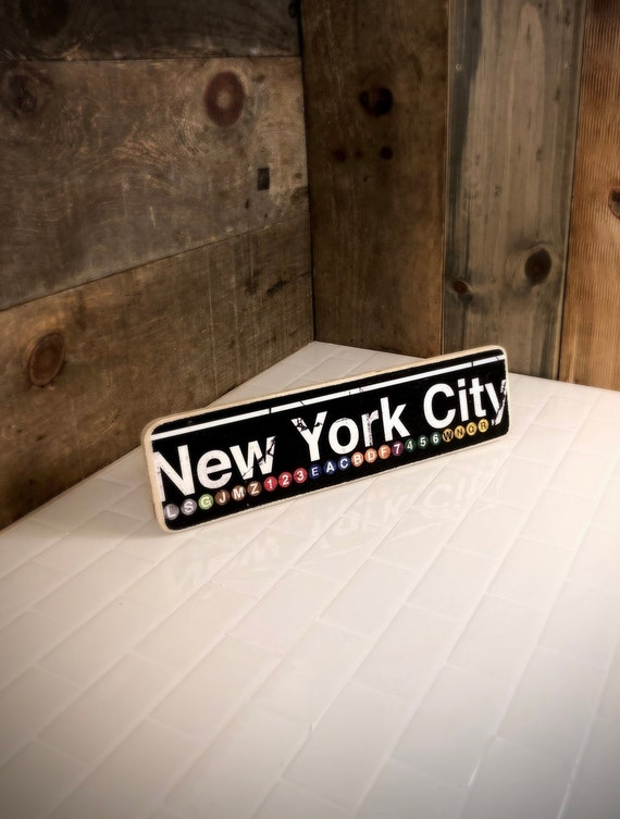 New York City Neighborhood Hand Crafted Wood Sign - 4x15 in.