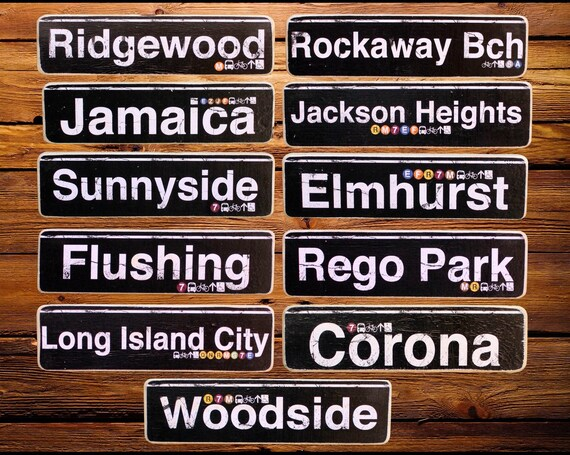Queens deep neighborhood wood signs