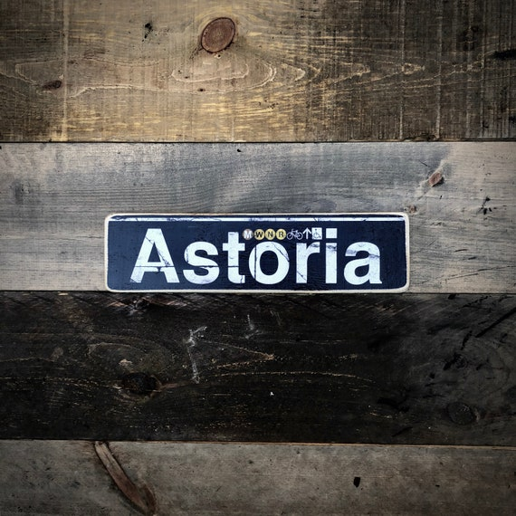 Astoria Wood Sign - 4x15 in.