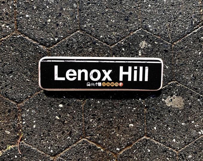 Lenox Hill, Manhattan New York City Neighborhood Hand Crafted Horizontal Wood Sign - Subway sign, NY Decor, NYC Art, Subway Art, NYC Sign.