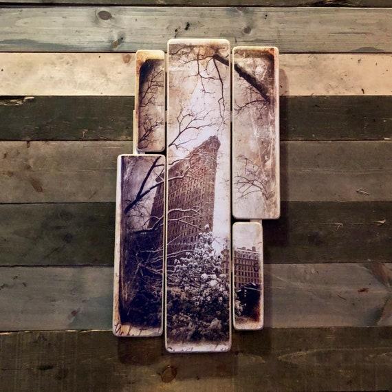 Flat Iron Winter - 38x20 inches