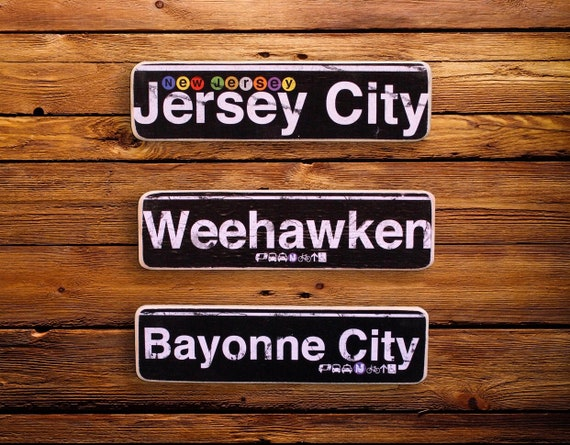 New Jersey Neighborhood Woods Signs