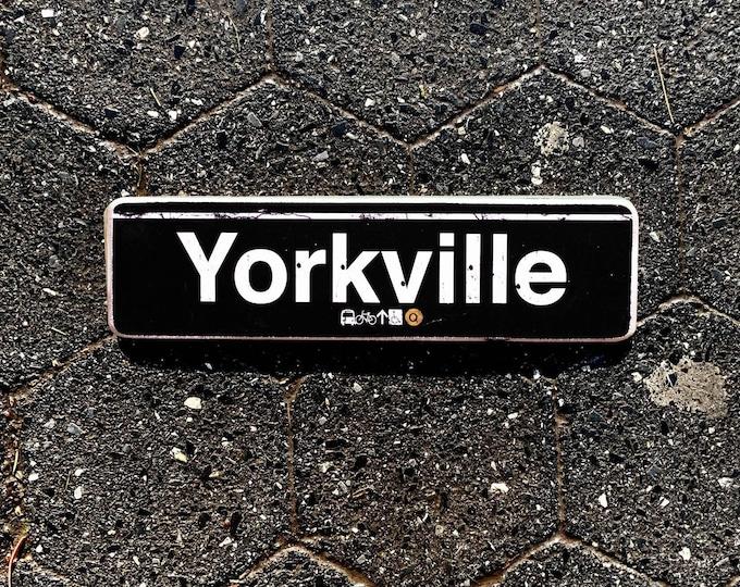 Yorkville, Manhattan New York City Neighborhood Hand Crafted Horizontal Wood Sign - Subway sign, NY Decor, NYC Art, Subway Art, NYC Sign.