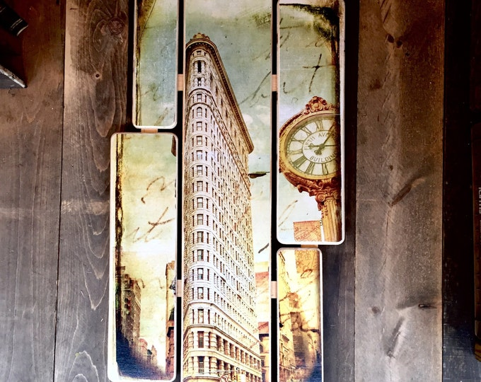 Flat iron building - 38x20inches ny gift
