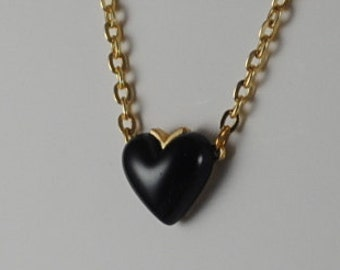 Vintage Small Blue Heart Pendant 1960s
