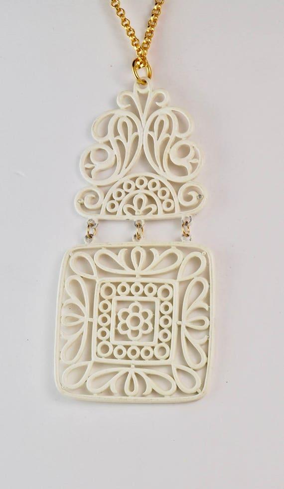 Trifari Vintage Necklace Trifari Pendant Trifari … - image 5