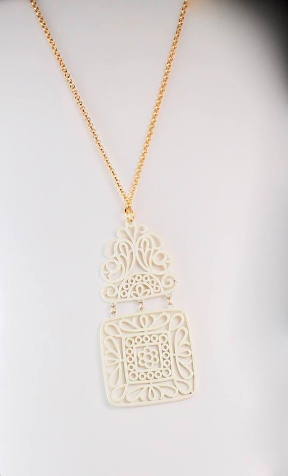 Trifari Vintage Necklace Trifari Pendant Trifari … - image 2