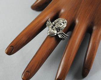Vintage Horoscope Ring Virgo The Virgin 1960s Ring