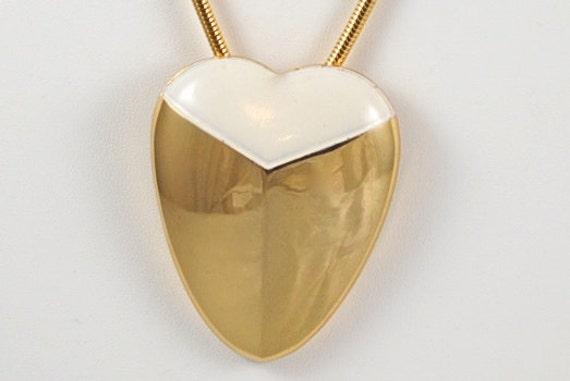 Vintage Lanvin Paris Heart Pendant & Earrings Set… - image 3
