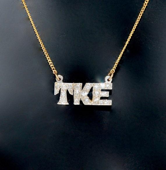 Gorgeous TKE Diamond Initial Necklace TKE Fraterni