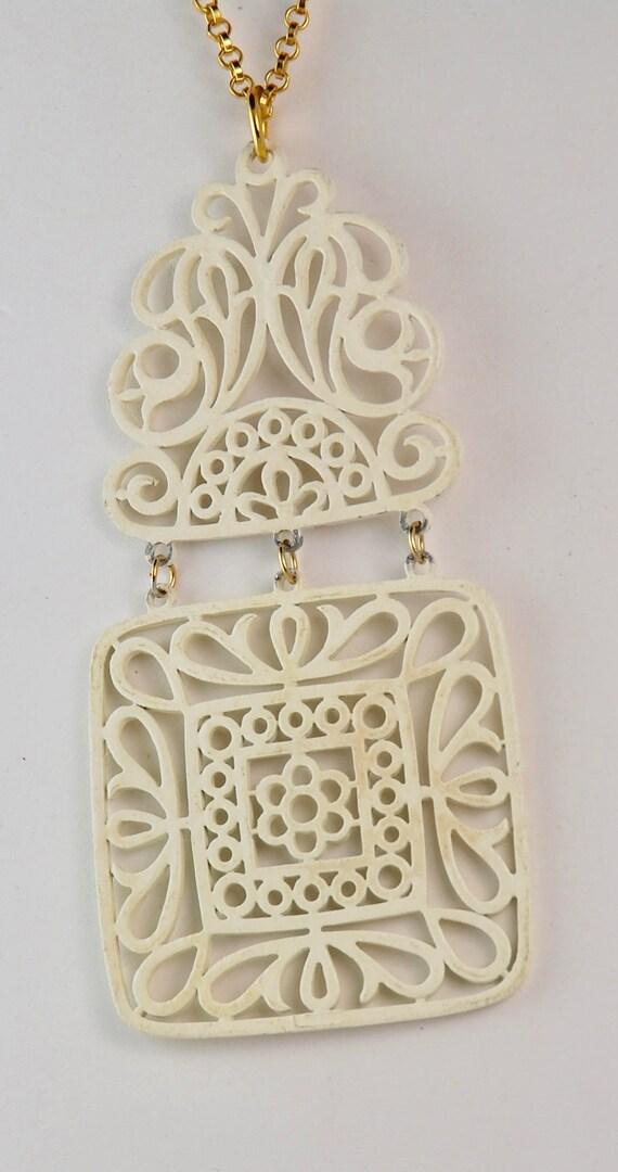 Trifari Vintage Necklace Trifari Pendant Trifari … - image 4