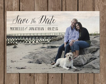 Rustic Save the Date. Save the Date Postcard. Vintage Save the Date. Vintage Paper Save the Date. DIY Printable. Calligraphy Save the Date.