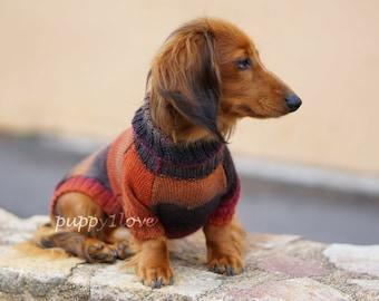 Dachshund Sweater - Dog Clothes - Dog clothing - Dog sweater - Dachshund clothes - Wiener dog - Dog winter clothes - Winter dog sweater