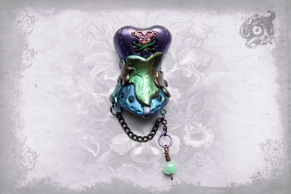 Miniature Polymer Clay Fairyland Corset Brooch