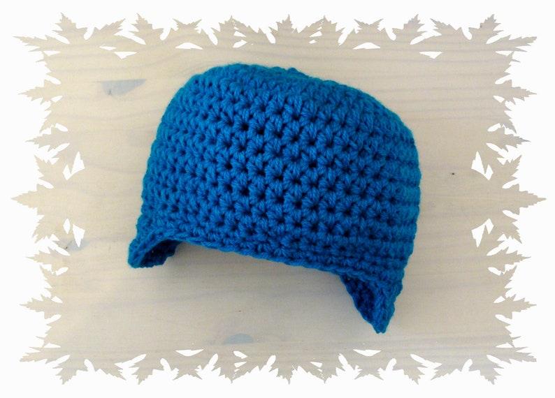 Häkeln Kleinkind Boy Stil Blauen Mütze Mit Ohrenklappen Etsy