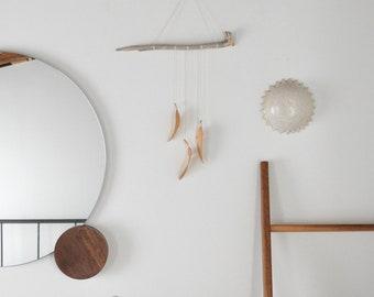 Wood Feather Wall Hanging - Driftwood Wall Art - handmade wood home decor - Boho Art