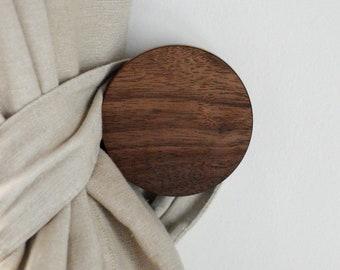 The Offset Knob- Large - Round Wood Wall Hook - Wood Coat Hook - Wood Hook
