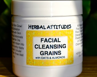 FACIAL CLEANSING GRAINS with Oats & Almonds