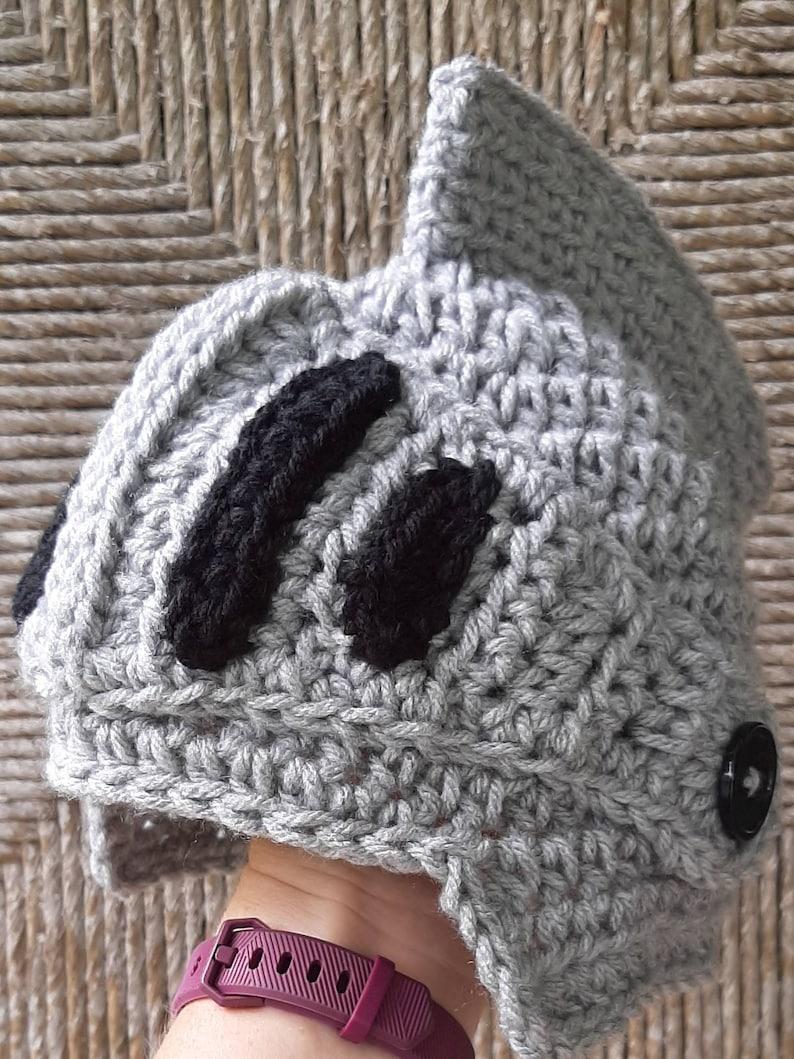 Knight helmet ALL SIZES thru ADULT crochet baby knight hat roman soldier baby knight medieval photo prop renaissance cosplay mask shield