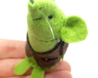 Halloween Ornament - Frankenstein's Mouse - A handmade felt mouse, a pefect gift for Halloween