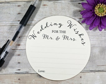 Wedding Advice Cards 10pc - Wedding Wishes for the Mr and Mrs - Cream Advice Cards - Bride & Groom - Rustic Wedding - Wish Cards