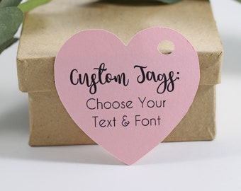 Personlized Sweet Pink Heart Favor Tags