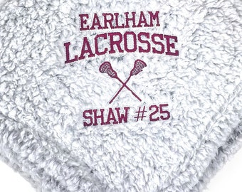 Lacrosse Blanket, Sports Blanket, Graduation Blanket, Custom Gift, Plush Blanket, Plush Throw, Custom Throw Blanket, Senior Gift