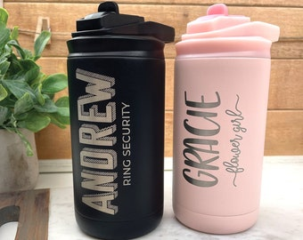 Personalized Flower Girl and Ring Bearer Water Bottle