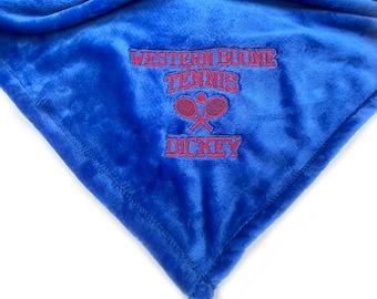 Graduation Blanket, Tennis Blanket, Custom Gift, Plush Blanket, Plush Throw, Custom Throw Blanket, Senior Gift