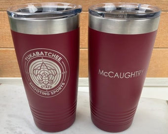 Personalized Business Logo Engraved Travel Tumbler  - 20 & 30 ounces