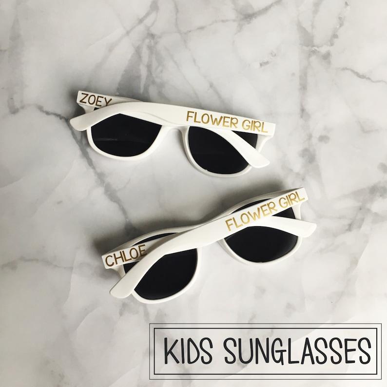 KIDS Personalized Sunglasses  Ring Bearer Flower Girl Gift image 0