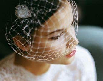 "Wedding handmade Bridal Birdcage with crystal stones - ""Leila"""