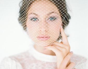 "Bridal Veil, Birdcage Wedding, Headpiece - ""Chiara"""
