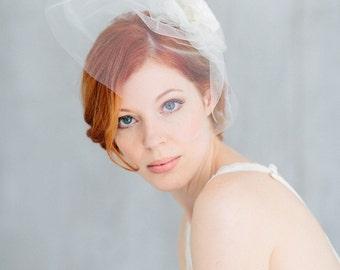 """Bridal Veil, Birdcage Wedding,Silk Flower - """"Camille"""""""