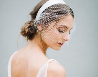 "Veil Birdcage, Bridal Birdcage, French Netting - ""Liv"""