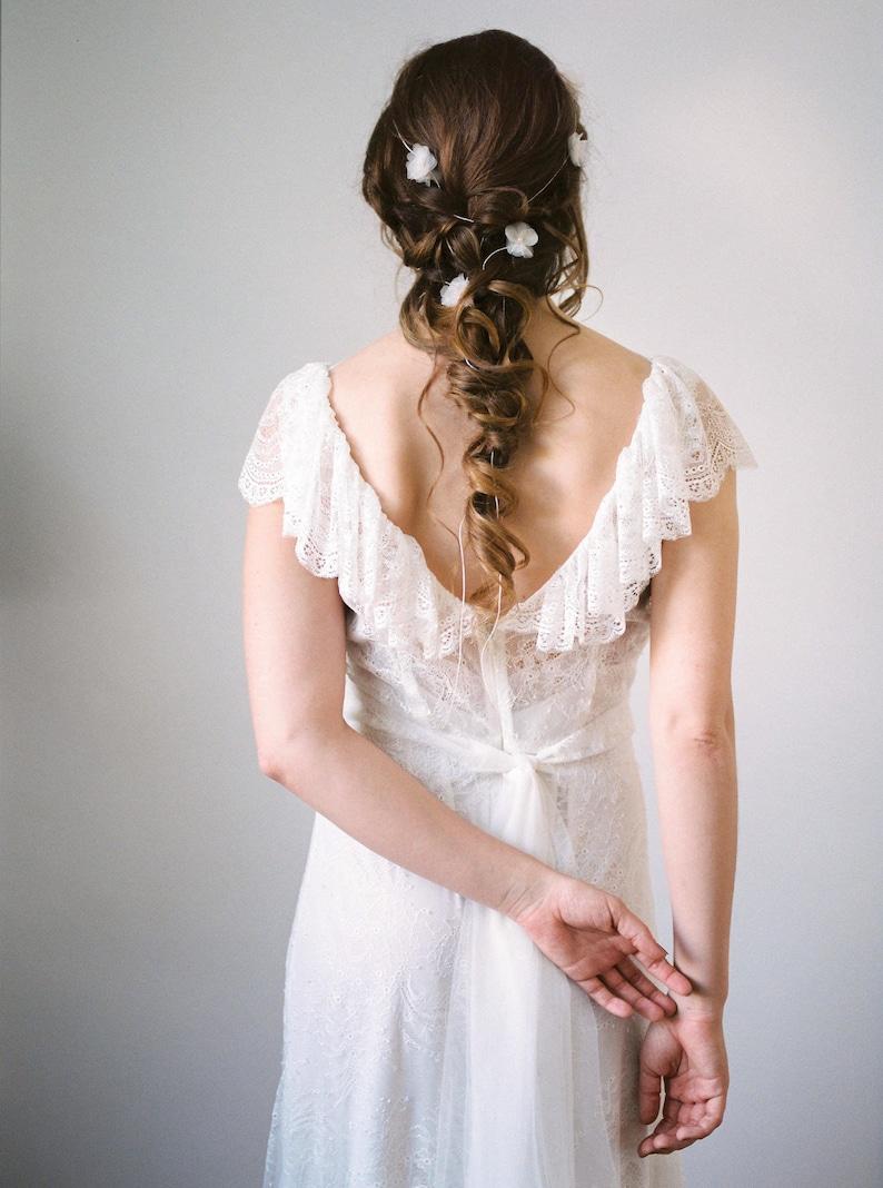 Wedding silk headband Mimi image 0