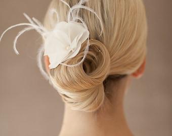 "Silk hair flower, wedding flower - ""Christelle"""