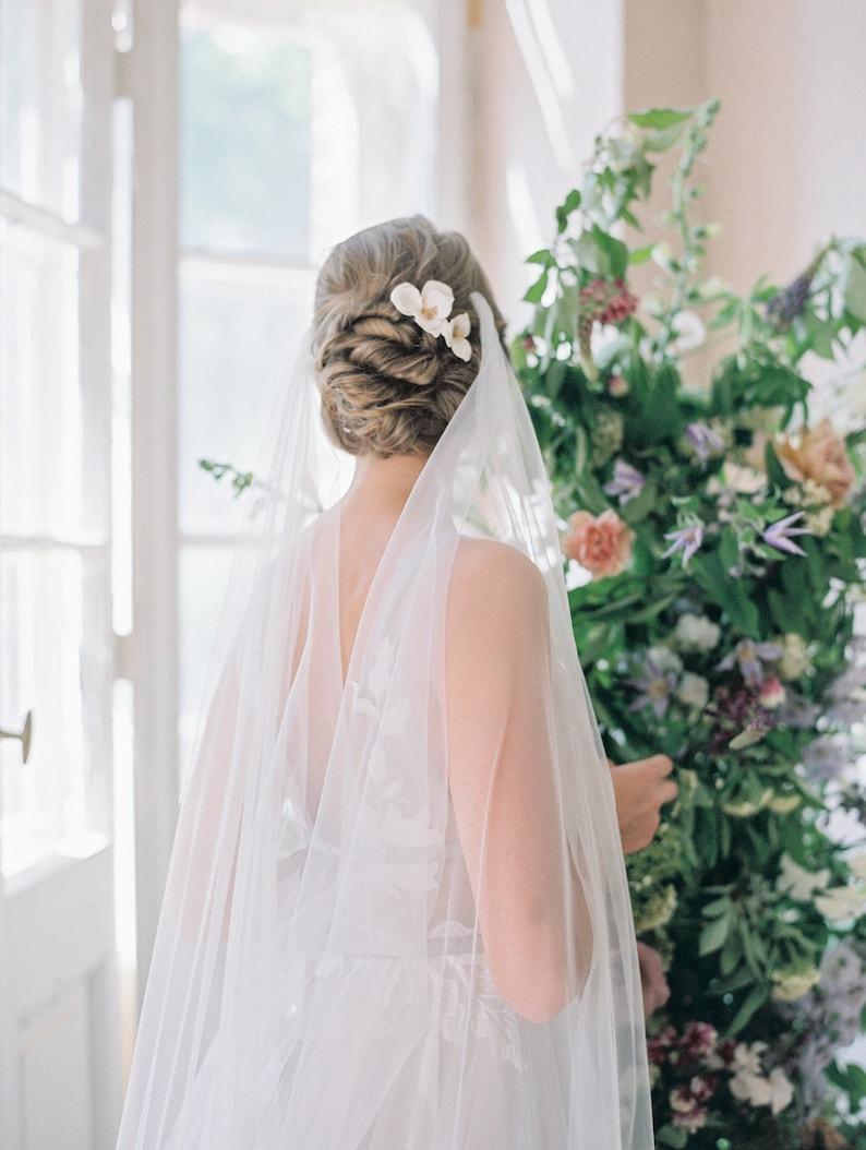 Brautschleier schlicht seitlich