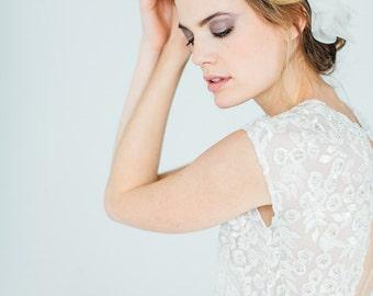 """Organzasilk Flower wedding, headpiece hair flower - """"Tiffany"""""""