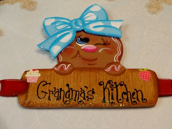 Frig Magnet, Wooden Gingerbread Holding Rolling Pin, Kitchen Decor, Kitchen  Magnet, Home Decor, Gingerbread Decor, Grandma Gift,