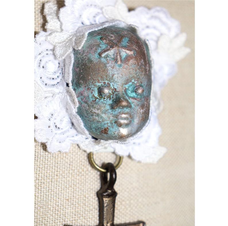 RUSTY DOLL BROSCHE Dolly Kei Gothic Halloween Classic Lolita