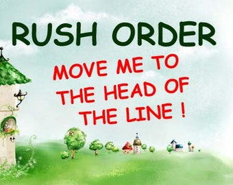 RUSH PREPARATION FEE- Move My Order to the Head of the Line