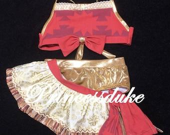 Princess Moana Inspired Princessduke Costume Birthday Three Piece Bikini