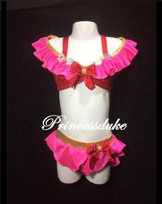 Princess Mulan Inspired Princessduke Birthday Swimsuit