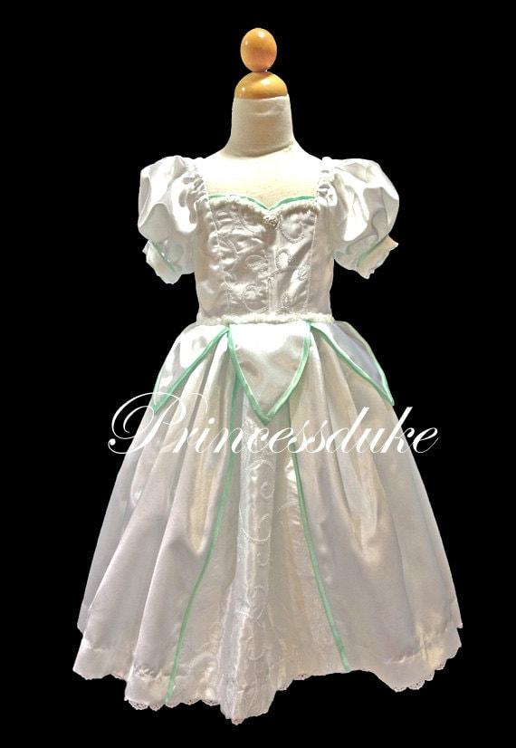 Princess Ariel Wedding Dress Inspired Princessduke Flower Girl   Etsy