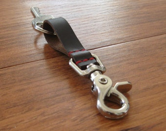 Leather Keychain for your Home, Office, Travel, LIFE! Keep it close and secure. Reliable. Rugged. Simple.