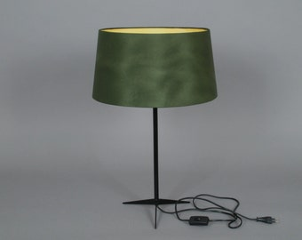 green/ yellow Table Lamp Naunyn retro