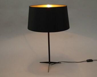 Black/gold Table Lamp Naunyn retro