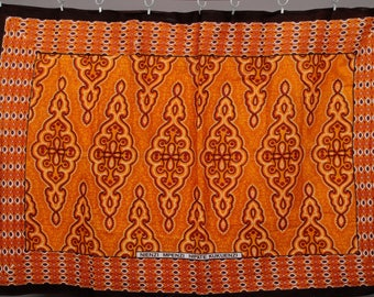 Afrikanischer Stoff rot/ orange