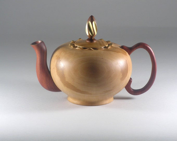 Teapot made from Bradford Pear and Bloodwood